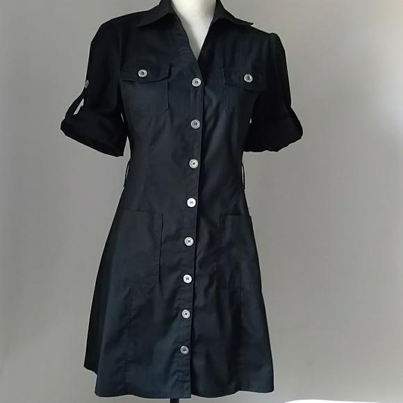 Dots Dress Shirt with belt.